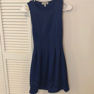 New with no tag. Elegant blue dress with design